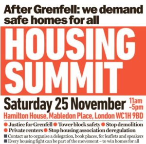 EVENT: Housing summit, 25 Nov