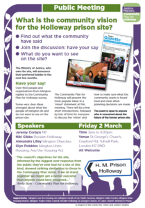 Join us to discuss future of Holloway prison site with Jeremy Corbyn MP